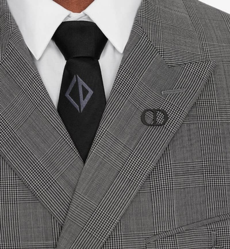 CD 絲綢菱形格紋領帶
