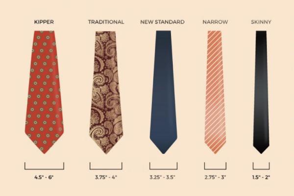 領帶寬度區別