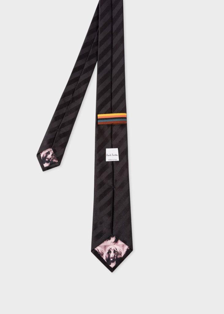 黑色條紋真絲領帶