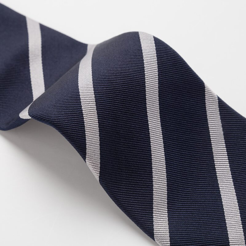 深藍真絲領帶