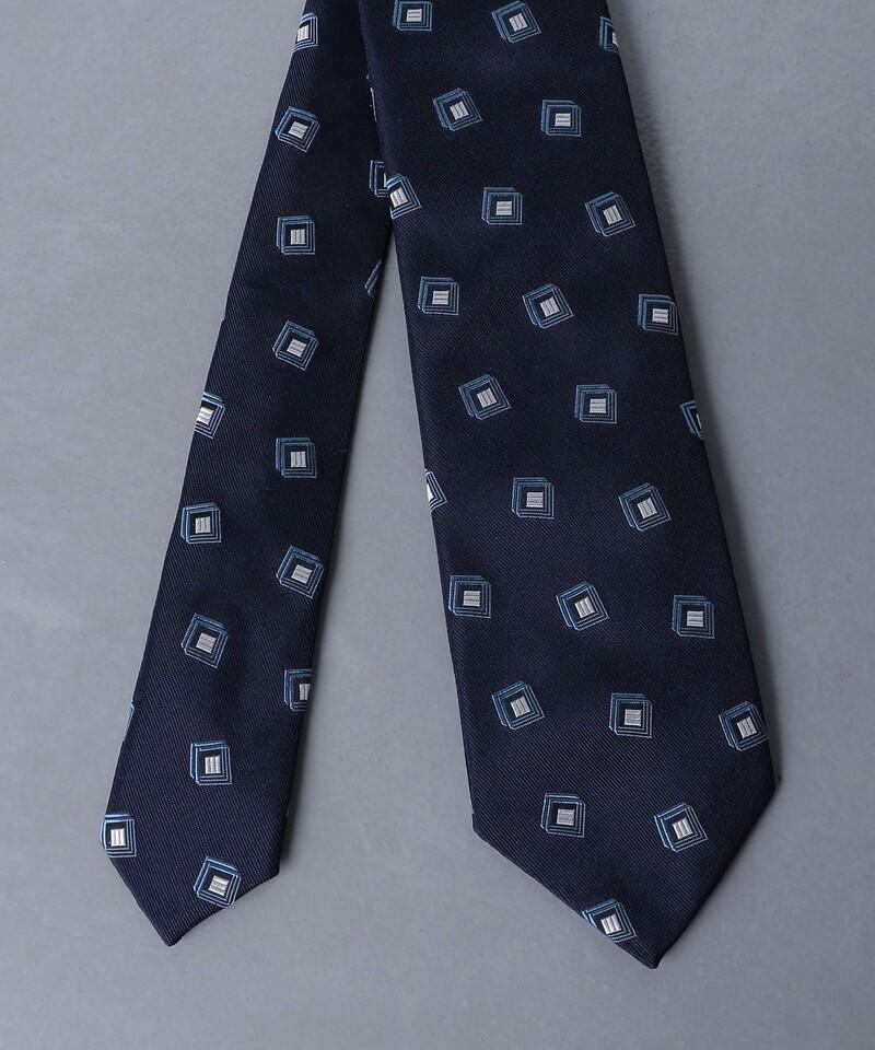 緹花織方形紋時尚領帶
