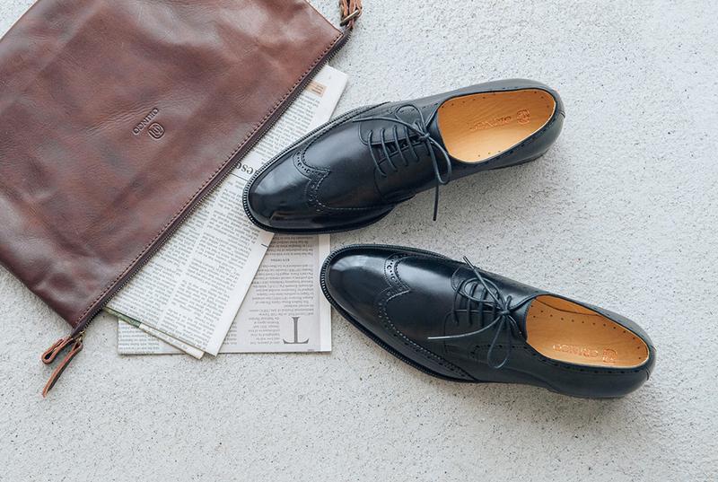 林果良品 - 翼紋雕花德比鞋