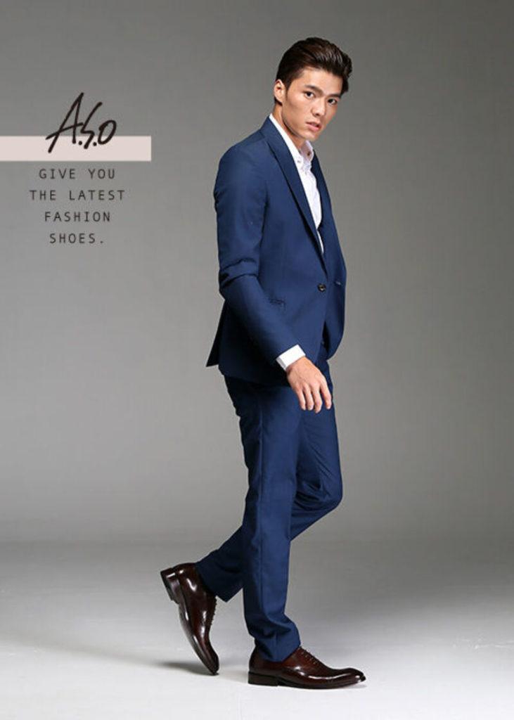 阿瘦全牛皮雕花紳士鞋
