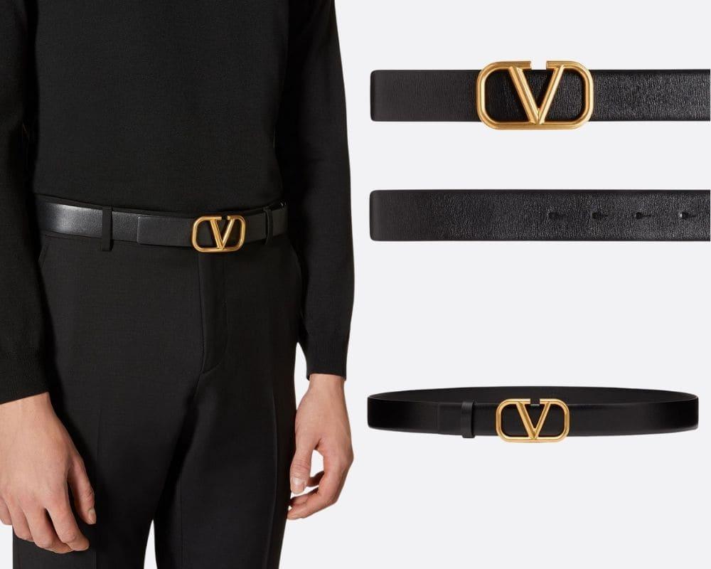 Valentino 小牛皮皮帶