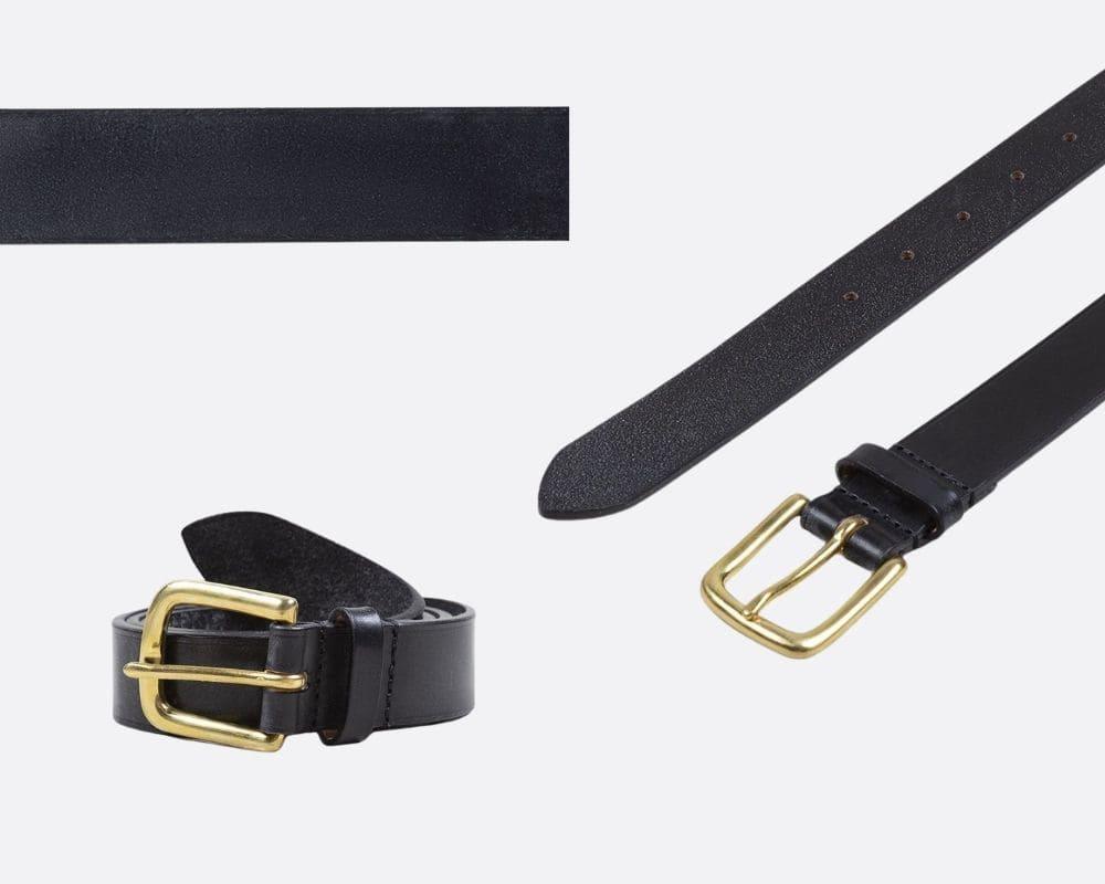 Drake 黑色韁繩皮革腰帶